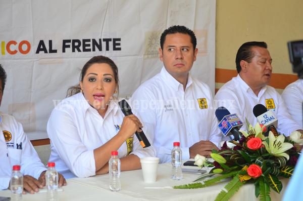 """""""Estamos bien fortalecidos en el PRD en Michoacán y en Zacapu"""": Verónica García"""