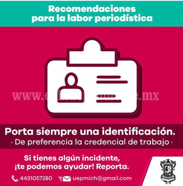 Contribuye Gobierno de Michoacán con CNDH en favor de periodistas