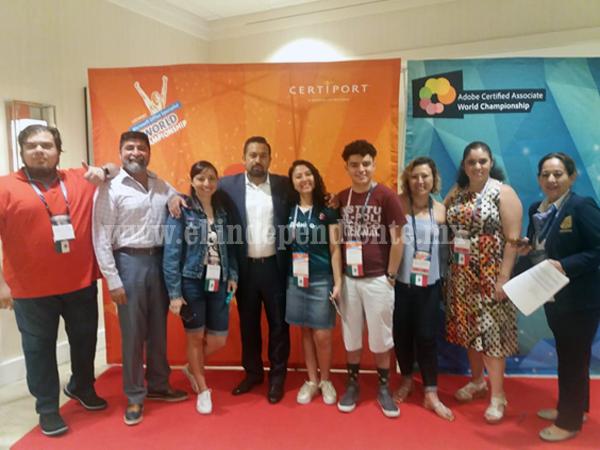 Jóvenes de Michoacán representan a México en contienda internacional de habilidades digitales