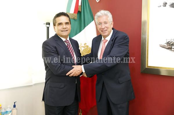 Fortalece Gobernador agenda por Michoacán con Gobierno Federal