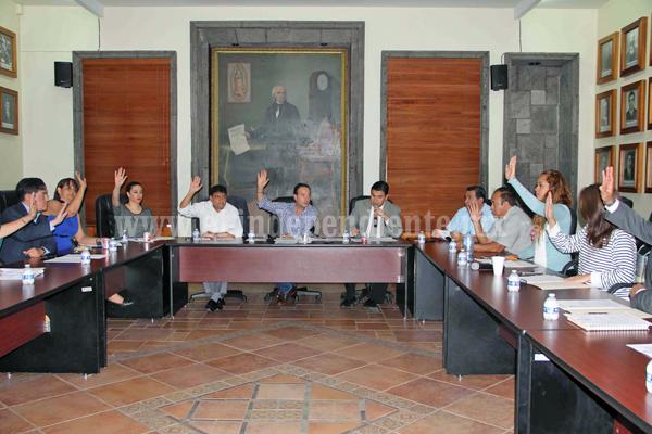 Acuerdan el orden de intervención de los regidores para el 3er Informe de Gobierno