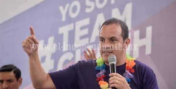"""Trabajaré para sacar adelante a Morelos"": Cuauhtémoc Blanco"