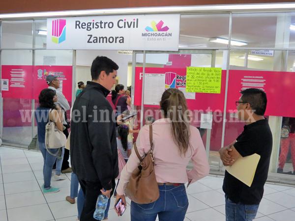 Registro Civil podría expedir actas de nacimiento gratuitas para gente de escasos recursos
