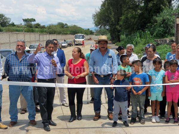 Edil de Jacona concluyó su administración al inaugurar 5 obras