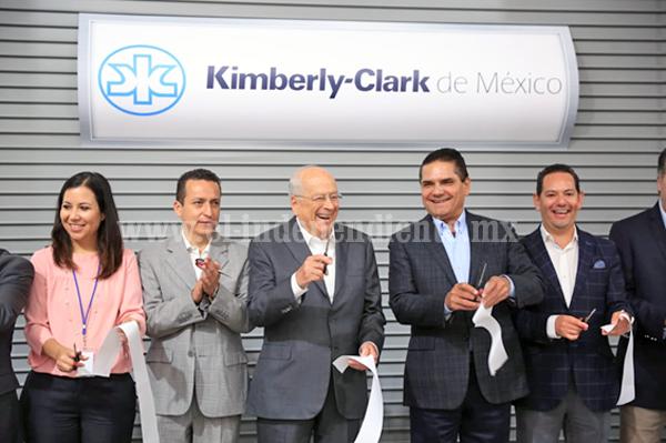 Reconoce Kimberly Clark a Gobierno de Michoacán por generar confianza y seguridad para invertir