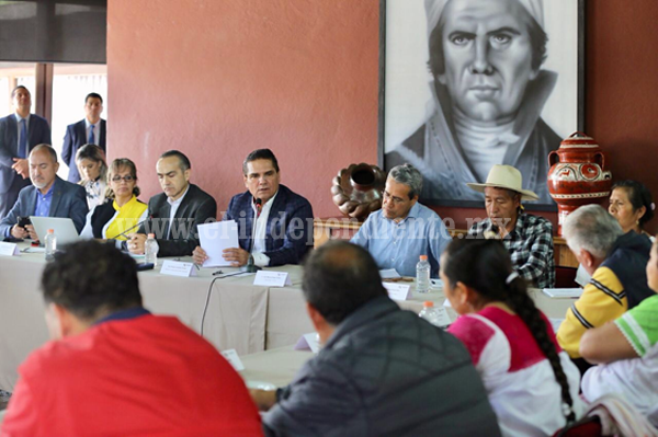 Establece Gobernador mesa de trabajo permanente con el Concejo Mayor de Cherán