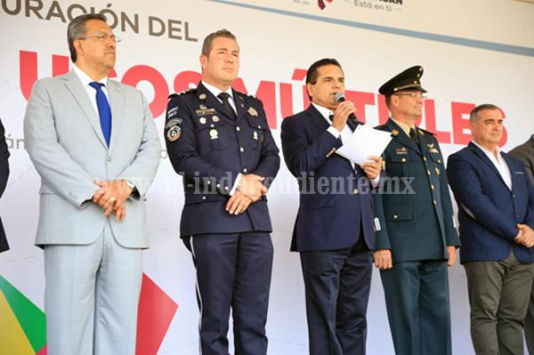 Anuncia Gobernador aportación de iniciativa privada para fortalecer Policía Michoacán