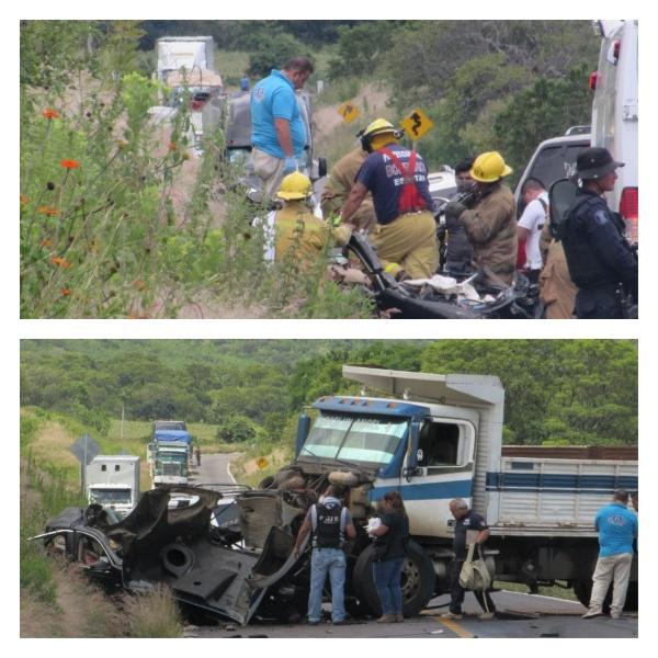Fueron cuatro los policías muertos en accidente vial en el municipio de Chavinda