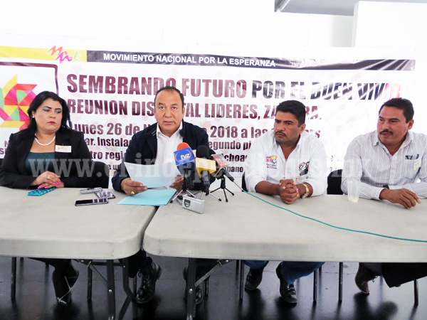 """""""Movimiento Nacional por la Esperanza, buscará verdadero contacto de gobierno con los individuos"""""""