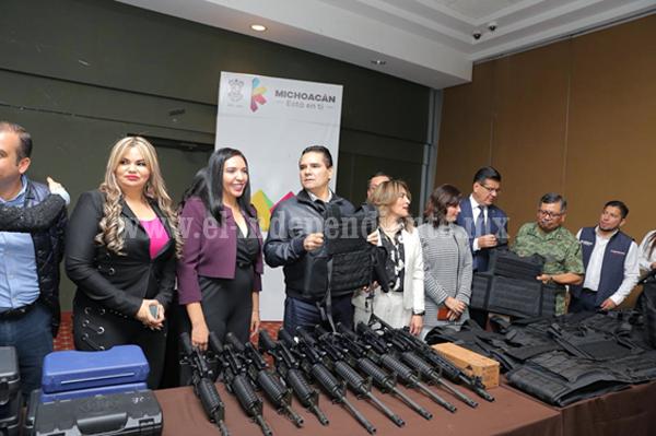 Consolidar cuerpos de seguridad y garantizar justicia, la ruta: Gobernador