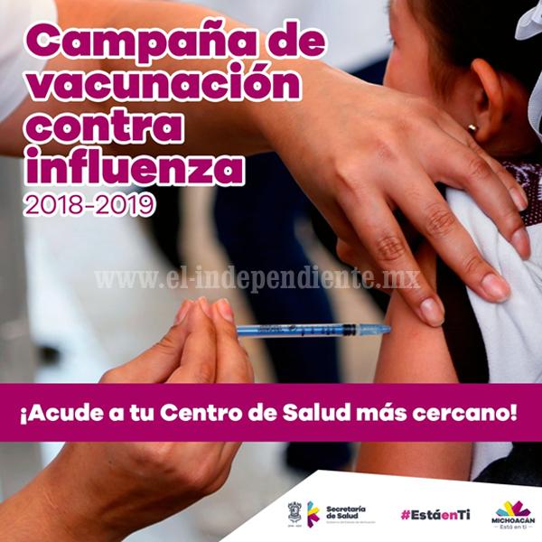 Exhorta SSM a vacunarse para prevenir enfermedades respiratorias