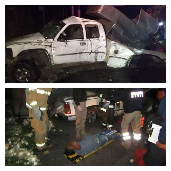 Una muerta y 6 heridos en choque de camioneta contra un torton cebollero