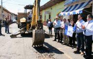 Inician paquete de obras de 7 mdp para pavimentación de  4 calles