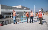 Por concluir, construcción de vialidades y estacionamientos de Ciudad Salud