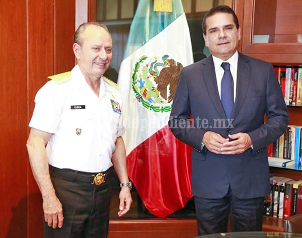 Define Gobernador con Sedena y Semar segunda etapa de Plan Integral de Seguridad