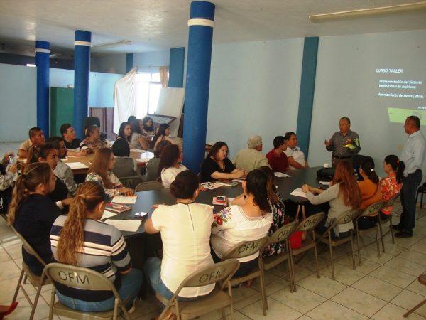 Realizan en Jacona segunda capacitación sobre manejo de documentos municipales