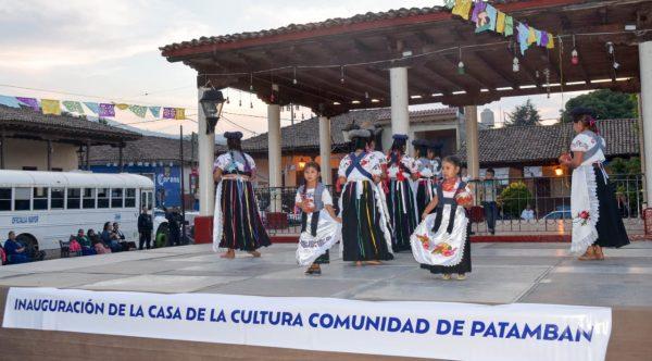 Inauguran Casa de la Cultura en la Comunidad de Patamban
