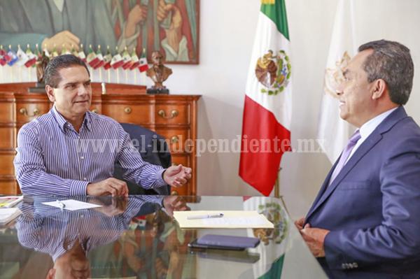 Trabajo conjunto con FGE, para garantizar justicia a michoacanos: Silvano Aureoles