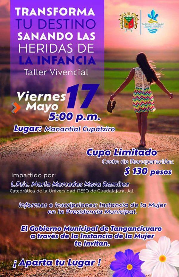 Preparan curso de superación personal en Tangancícuaro