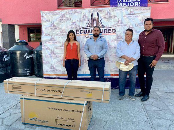 Gobierno de Ecuandureo ofertó materiales de construcción a bajo precio