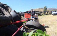 Buscan sanear Zamora del problema de contaminación de neumáticos