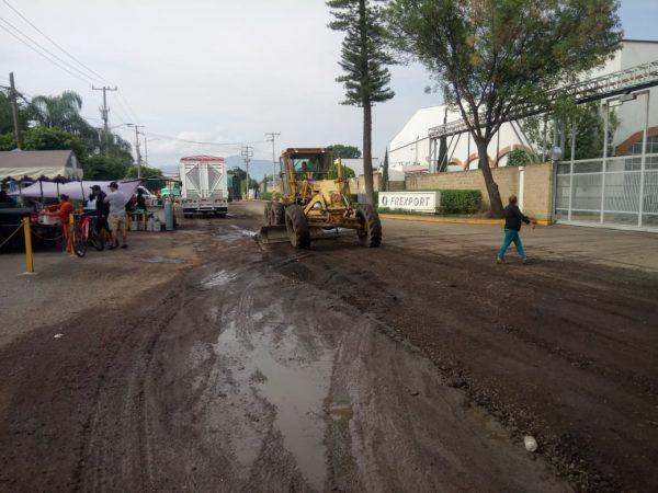 Gobierno Municipal repara tramo de la calle Labastida