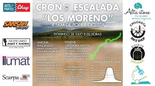 """Invitan a la Crono Escalada """"Los Moreno"""""""