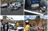 Accidente deja 7 personas lesionadas en Tangamandapio