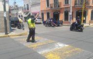 Ante falta de semáforos, saldrán del problema colocando elementos de Tránsito