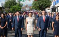 ADRIANA CAMPOS ENCABEZA DESFILE DEL 16 DE SEPTIEMBRE