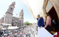 Con fervor patrio, disfrutan miles de michoacanos Desfile por la Independencia de México