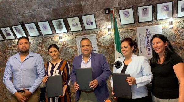 Firman convenio gobierno de Ecuandureo y UNIVA La Piedad
