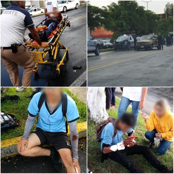 Choque de patrulla contra camioneta deja 9 adolescentes heridos, en Zamora