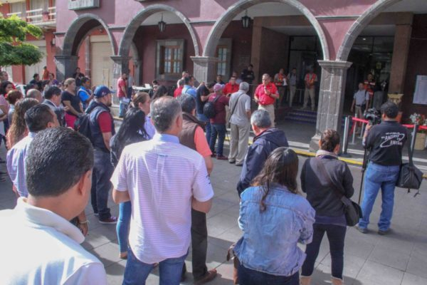 Gobierno Municipal realiza simulacro de sismo en la Presidencia y el DIF