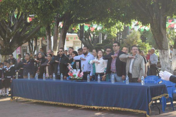 Conmemoraron en Tangancícuaro Consumación de la Independencia de México