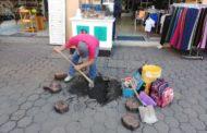 Gobierno local atiende hundimiento de las calles Aldama y Allende
