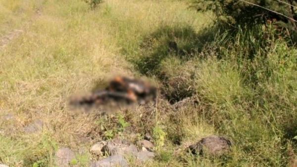 Calcinado y con impactos de bala es hallado cadáver en Jacona