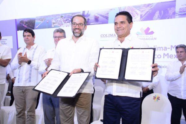 Promueven Michoacán y Colima plataforma logística de puertos de Lázaro Cárdenas y Manzanillo