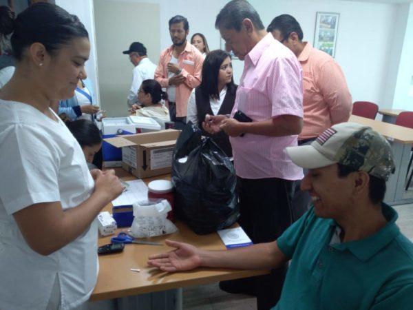 SAPAZ realizó campaña de Prevención y Control de Salud a sus trabajadores