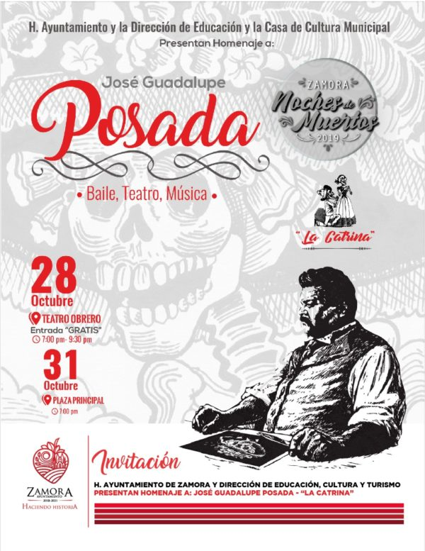 El Gobierno Municipal realizará homenaje al célebre ilustrador y caricaturista  José Guadalupe Posada