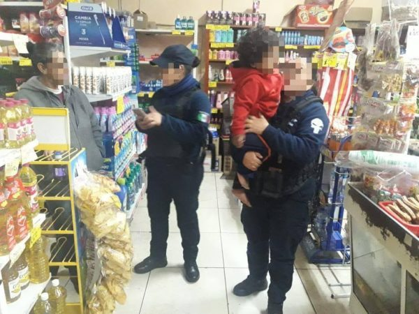 Localiza Policía Michoacán a niño extraviado, en Jacona