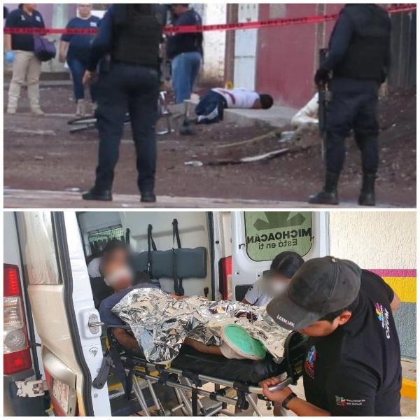 Un muerto y un herido en agresión a balazos en Jacona