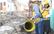 Ángel Macías supervisó obra en proceso de construcción en Ixtlán