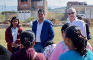 Realizan recorrido en la escuela nueva creación en Tangancícuaro