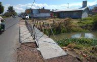 Terminado Puente Peatonal en Aquiles Serdán