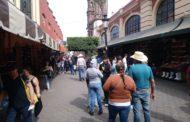 Comprometen ya no permitir tianguis de ambulantes en Plaza principal