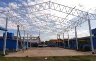 """Avanza construcción de techumbre para el kínder """"Nezahualcóyotl"""""""
