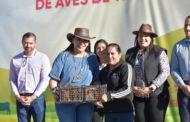 APOYA ADRIANA CAMPOS A FAMILIAS CON ENTREGA DE AVES DE TRASPATIO