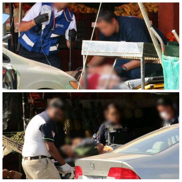 Tres heridos saldo de agresión a balazos en el Mercado Hidalgo