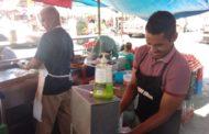 Ambulantes piden a autoridades colocar lavamanos en periferias del Mercado Hidalgo